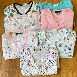 Lightly worn scrub tops